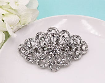 Crystal Wedding Barrette, Bridal Comb Crystal, Wedding Crystal Hair Comb, Hair Barette, Wedding Accessory, Jessica Crystal Wedding Barrette