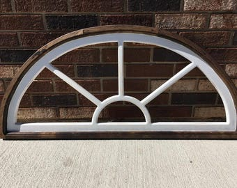 Sunburst Window Frame (Semi-Circle)