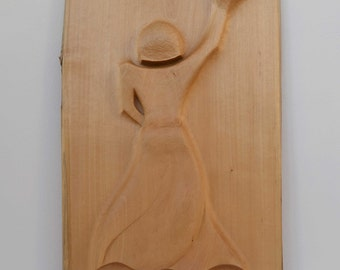 Handcarved wooden sculpture, limewood