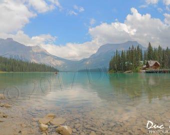 Emerald - Lake Mountains Photo Print - Nature Landscape - Peaceful