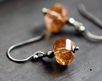 Rutilated Quartz, Rutilated Necklace, Quartz Necklace, Quartz, Pendant, Gemstone Jewelry, Sterling Silver, Shooting Star, PoleStar