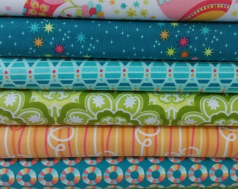 Coral Birds & The Bees BUNDLE By Tamara Kate For Michael Miller (7 Fabrics Total)