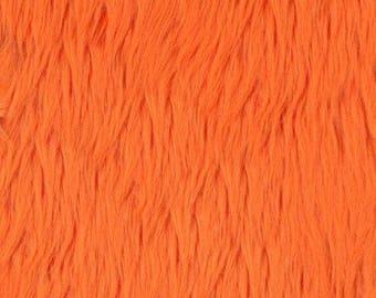 PRE CUT***Shaggy Luxury Faux Fake Fur Fabric (Orange)