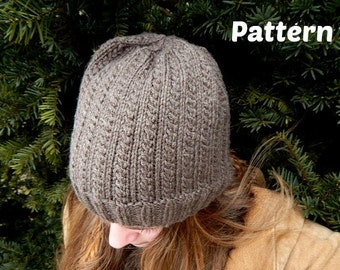 Hedgerow Knit Hat Pattern : Baby Hat, Toddler Hat, Child Hat, Adult Hat