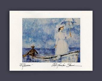 Rebecca -  Beautiful Goddess Blank Photo Greeting Card by Kathy Morton Stanion EBSQ