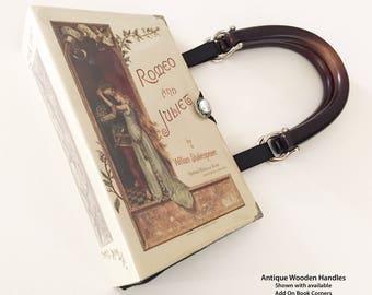 Shakespeare Romeo and Juliet Book Purse - William Shakespeare Book Bag - Romeo Book Cover Handbag - Book Reader Gift - English Teacher Gift