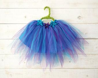 Morning Glory Tutu, Flower Tutu, Flower Girl, Floral Skirt, Wedding, Flower Costume, Ballet Skirt, Dancewear, Girl's Dress, Pink Tutu