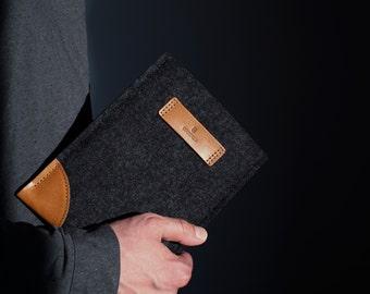 iPad mini 4,iPad Mini 4 Case,iPad Mini,iPad Mini Case,iPad Case,Tablet Case,iPad Sleeve,Tablet Sleeve,Wool Felt,Leather,Tan,CLASSIC SLEEVE