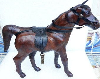Vintage Decorative Horse Figurine With Real Fur