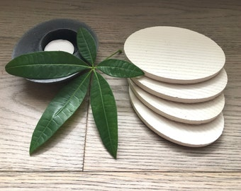 30% OFF***    Limited Time. Oval Concrete Handmade Coasters. Set of 4. Oval Coasters. Cement Coasters.