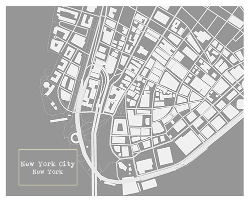 New york city blueprint map poster art print several sizes available gallery photo gallery photo malvernweather Gallery