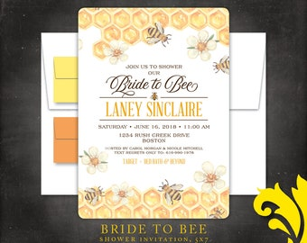 BRIDE TO BEE . shower invitation
