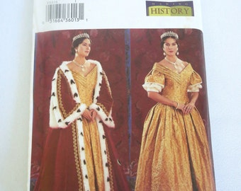 Queen Victoria Pattern, Butterick 3713, Queen Pattern, Sewing Pattern, Butterick, Pattern, Sewing, Size 6, Size 8, Size 10, New, Uncut
