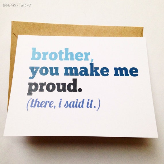 Brother card brother birthday card funny card card for m4hsunfo Images