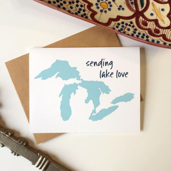 Great lakes state great lakes gift michigan greeting card like this item m4hsunfo Images