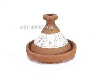Moroccan Tajine (Moroccan pot) Small in unglazed natural terracotta then non-toxic size cm 20x18 h