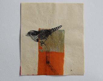 Bird - Mixed media print