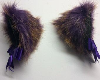 """5"""" purple bronze kitten play ears"""