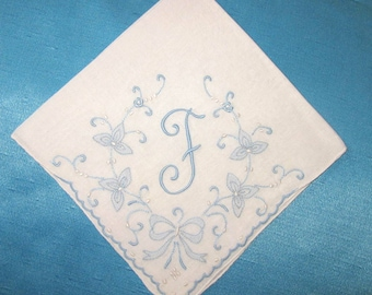 Something Old Wedding Handkerchief Initial