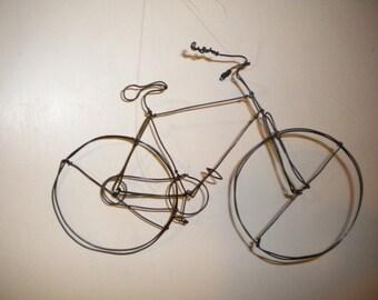 Bike--3-D steel wire sculpture