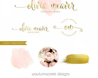 Photography Logo Premade Logo watercolor logo Logo Design Premade logo design Heart Logo custom Logos and Watermarks custom