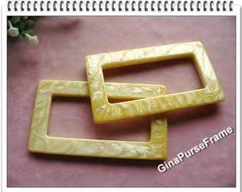 1pair purse handles bag handles / golden marble color / rectangle shape handles