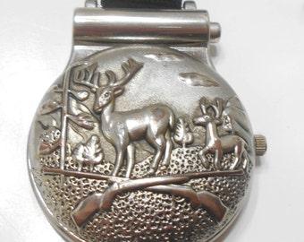 Vintage Quartz Pocket Watch (1179) Japan Movement--Belt Strap--M. Z. Berger
