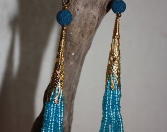 Earring Ballai blue witch