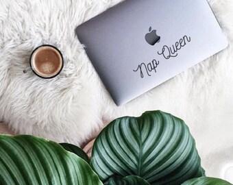 Nap Queen (2), Laptop Stickers, Laptop Decal, Macbook Decal, Car Decal, Vinyl Decal