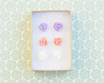 Sylvie  Rose Earring Studs Trio