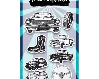 Brutus Monroe Clear Stamp Set- HP's Garage Cars