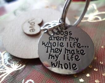 Dog lovers key ring