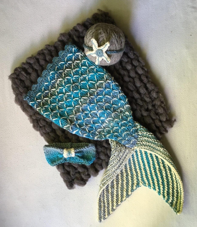 PDF Knit Mermaid Tail Pattern Newborn Photo Props Mermaid