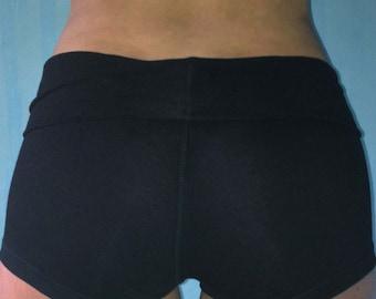 Yoga Shorts in Onyx/Yoga/Black Yoga Shorts/Yoga Shorts/Cotton Gym Shorts/Yoga/Womens Gym Shorts/Womens Yoga Shorts/Womens Cotton Shorts/Yoga