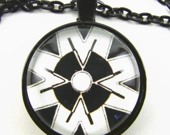 Men's Double MORNING STAR Necklace -- Native American spiritual art, Bringer of Light in black and white, Tribal art