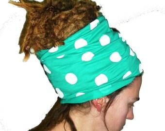 Headband, dotted bohemia tube