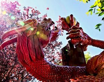 Red Dragon, Dragon Print, Dragon Decor, Chinatown Print, Dragon Art, Asian Decor, Asian Art, Asian Wall Art, Victoria, British Columbia