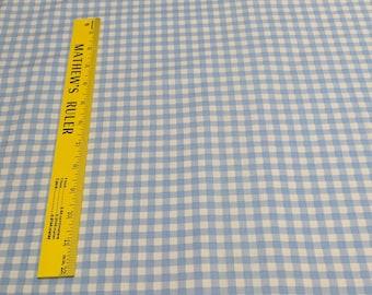 Blue Checkered Cotton Fabric