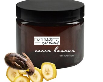 Hair Mask Treatment Deep Conditioning Banana Chocolate Smoothie Natural