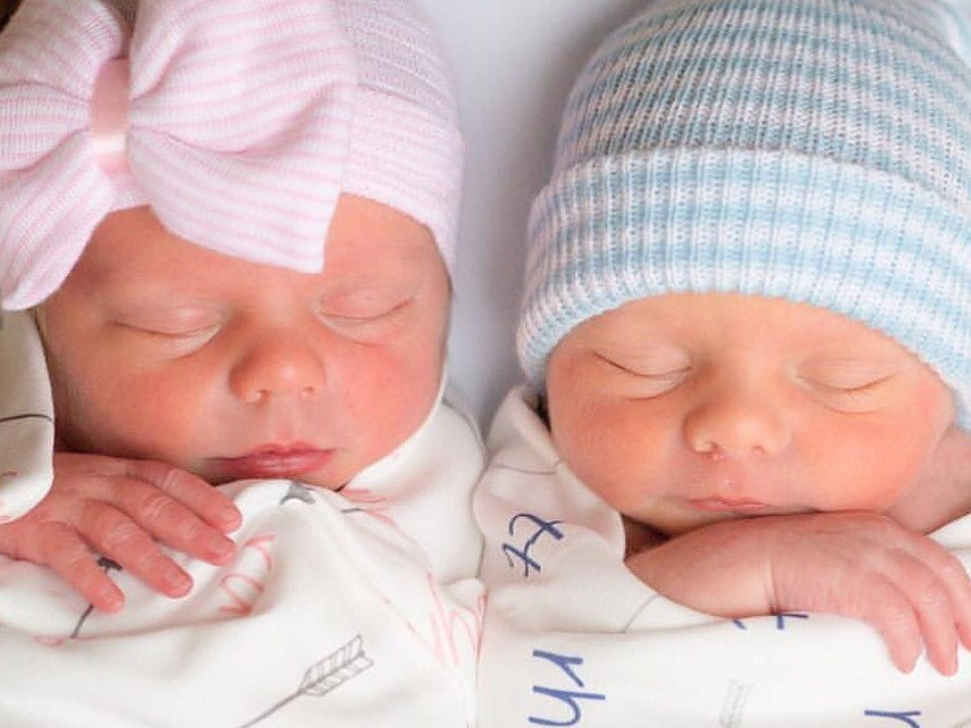 Newborn Baby Girl And Boy Twins