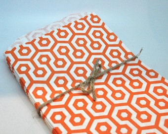 BULK Orange Honeycomb bags - QTY 30 - Treat Bag - Baked Goods Bag - 5x7 - Assorted Party bags - Geo bags