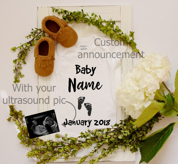 Personalized Baby Announcement with ultrasound picture