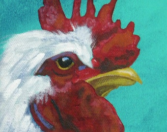 Handsome Rooster blank greeting card