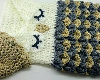 Crochet Newborn Owl Cocoon
