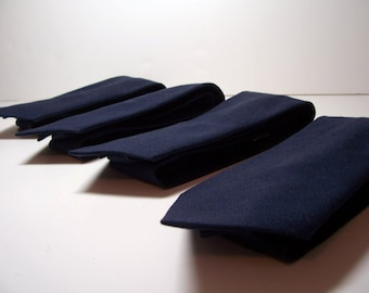 Navy Blue Linen Necktie for Men or Boys - Lots of Colors Available