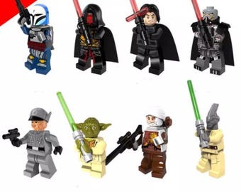 Building block Star Wars set of 8 Mini-figures compatible with l