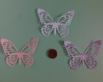 Butterfly Die Cuts Baby shower, Wedding table confetti 30, paper embellishments, scrapbook cardmaking supplies, cupcake toppers
