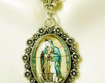 Our Lady of Guadalupe pendant and chain - AP26-292