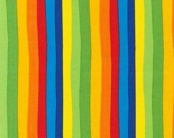Fat Quarter - Dr Seuss Rainbow Multi Color Stripe Fabric