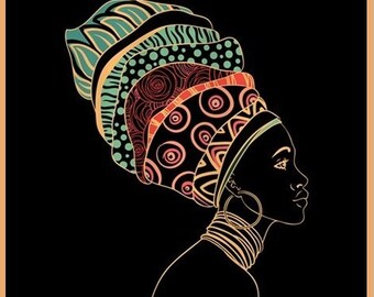 9 African Woman Tag
